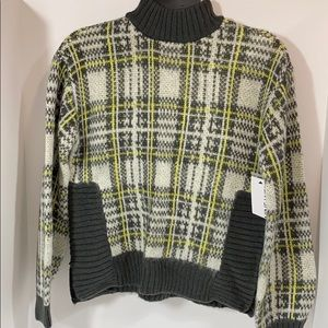 Nine West XSmall Plaid Pullover Sweater New